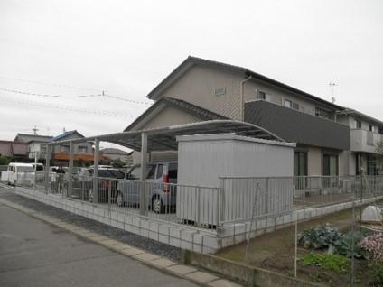 江南市 M様邸 外構工事 (カーポート・裏側から)