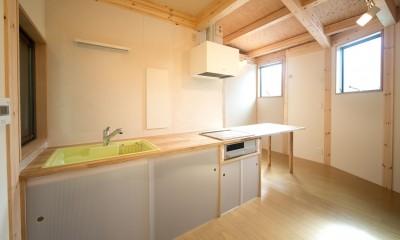 ダイニングキッチン|木造平屋建てバリアフリー住宅
