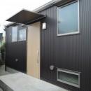 木造平屋建てバリアフリー住宅の写真 玄関