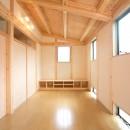 木造平屋建てバリアフリー住宅の写真 リビング