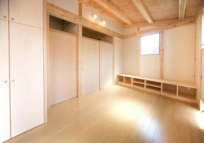 木造平屋建てバリアフリー住宅 (リビング)