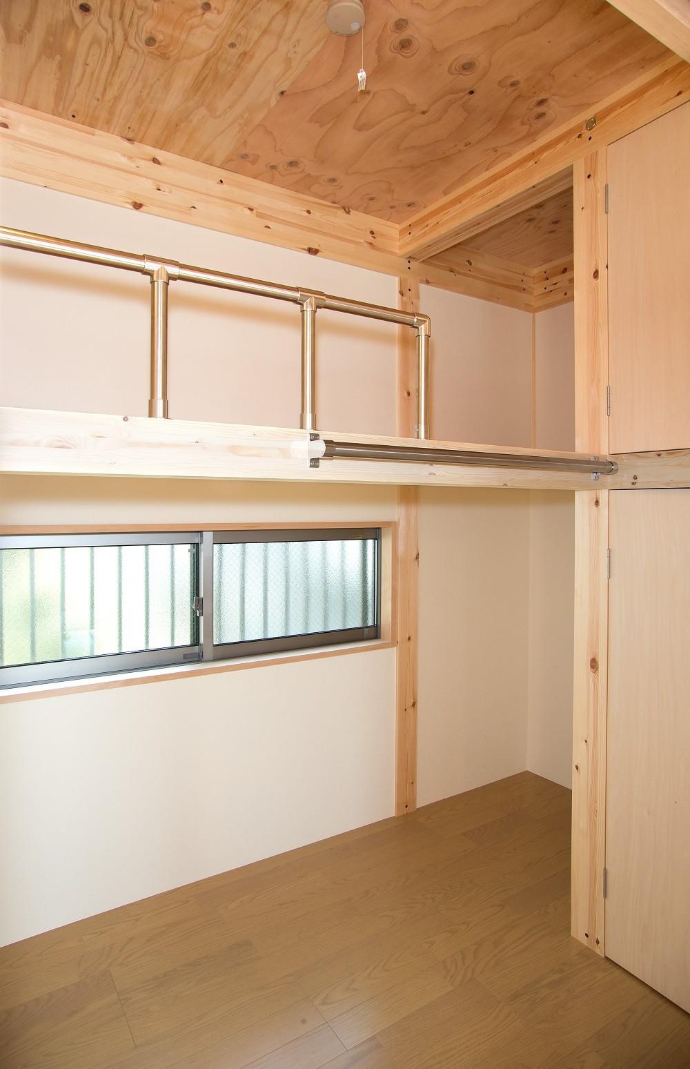 子供部屋事例:子供部屋(木造平屋建てバリアフリー住宅)