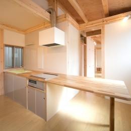 木造平屋建てバリアフリー住宅 (ダイニングキッチン)