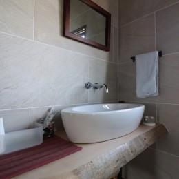 自然素材と色彩を楽しむ家 (手洗い)