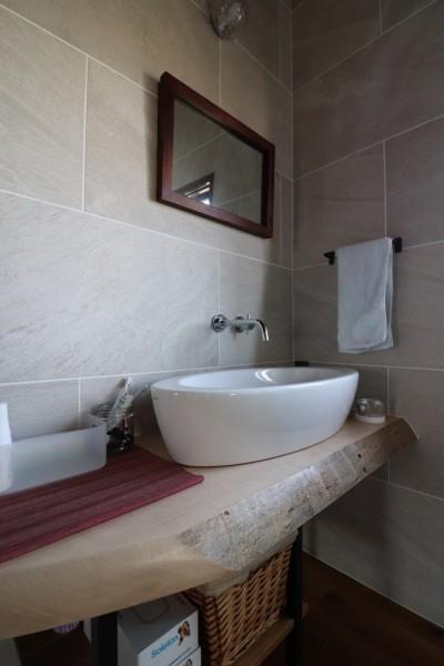 手洗い (自然素材と色彩を楽しむ家)