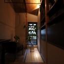 自然素材と色彩を楽しむ家の写真 ライティング(ランドリースペース)