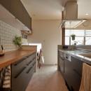 シンプルで都会的な戸建てリノベーションの写真 キッチン