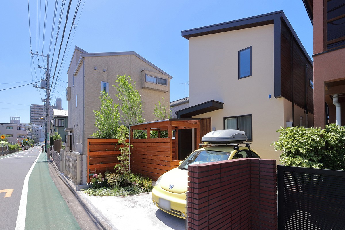 外観事例:外観(本と空を愉しむ階段の家|狛江の家)