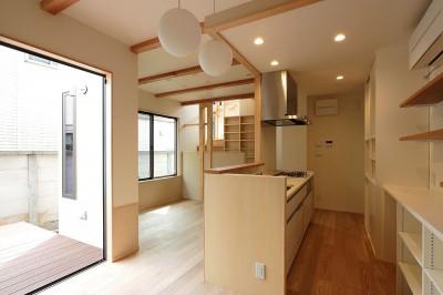 本と空を愉しむ階段の家 狛江の家 (LDK)