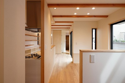 LDK (本と空を愉しむ階段の家|狛江の家)