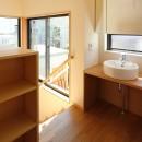 本と空を愉しむ階段の家|狛江の家の写真 2階廊下突き当り