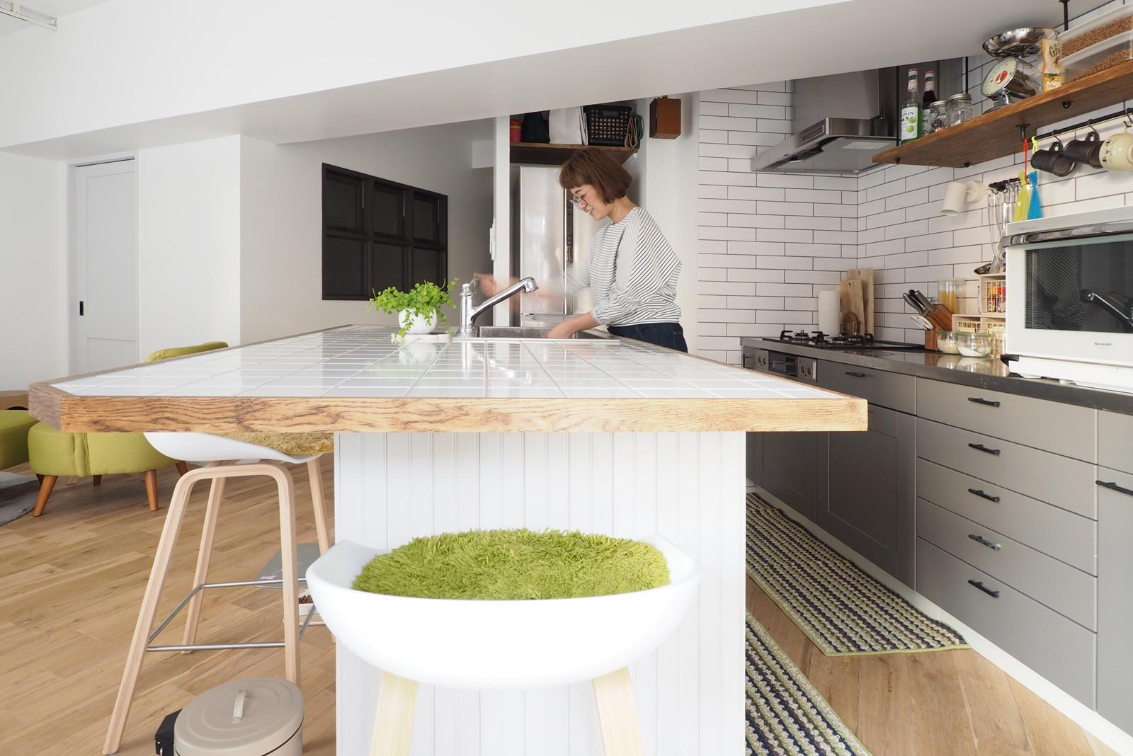 キッチン事例:キッチン(『amanchat』 ― パリのアパルトマン)