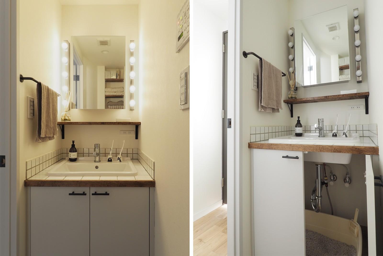 バス/トイレ事例:洗面室(『amanchat』 ― パリのアパルトマン)