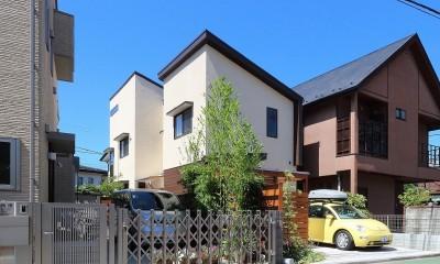 本と空を愉しむ階段の家|狛江の家