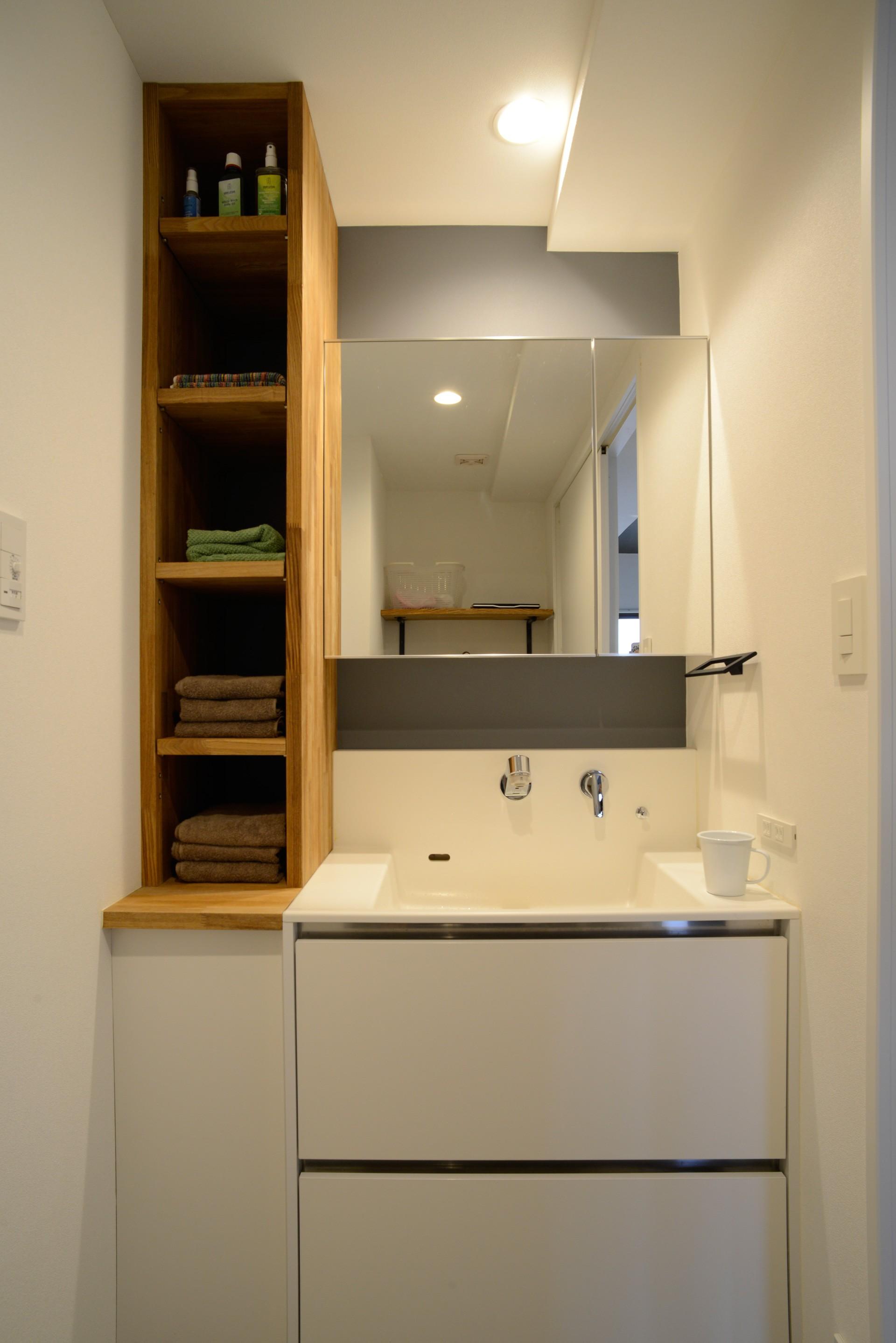 バス/トイレ事例:洗面室(『fields』 ― 風の渡るリビング)