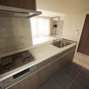 アクセントのある空間づくりの写真 キッチン