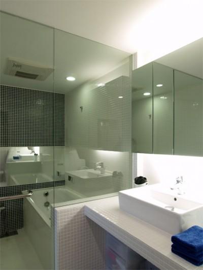 バスルーム (TILT-ちょっと斬新な空間を上手に仕切る工夫)