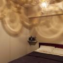 K邸-都心の細長い間取りを、上手にいかすの写真 ベッドルーム
