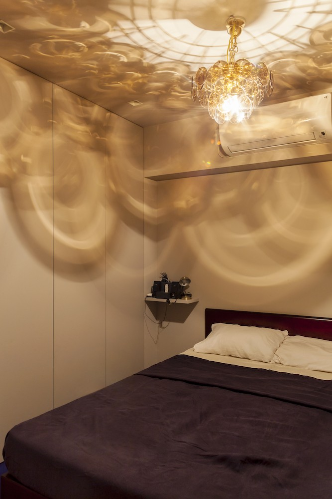 ベッドルーム事例:ベッドルーム(K邸-都心の細長い間取りを、上手にいかす)