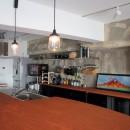 ダイニングテーブルが主役の家の写真 ダイニングキッチン