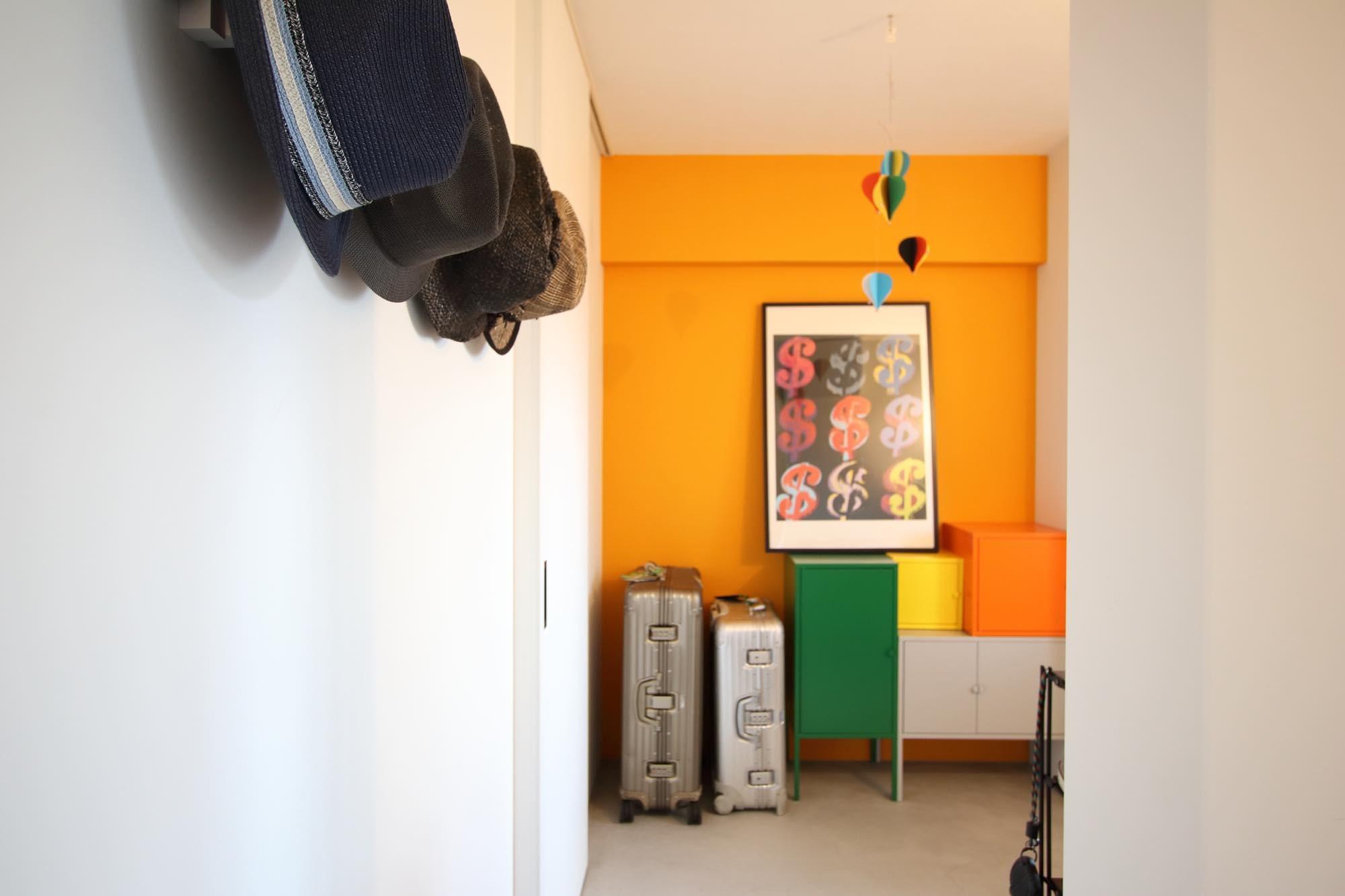 玄関事例:玄関・土間(ダイニングテーブルが主役の家)