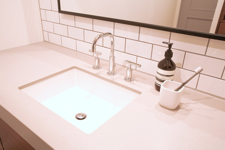 バス/トイレ事例:シンプルで無駄のない洗面台(M邸)