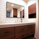 M邸の写真 シンプルかっこいい洗面エリア