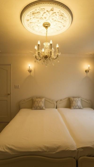 ベッドルーム (華やかさとエレガンスを備えた上質なヨーロピアンテイストの住まい)