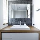 大人シックな空間を存分に楽しむの写真 洗面台