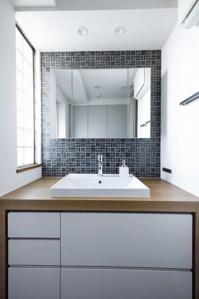 洗面台 (大人シックな空間を存分に楽しむ)