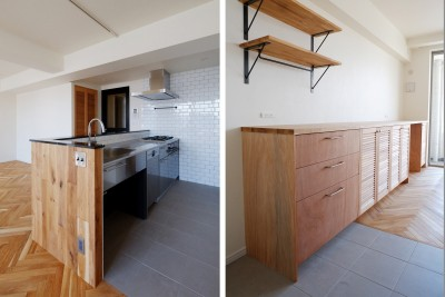 キッチン (『solid.』 ― 素材の表情を活かす)
