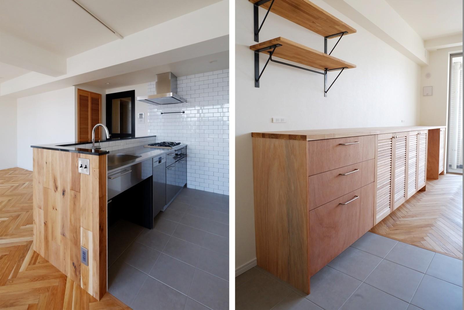 キッチン事例:キッチン(『solid.』 ― 素材の表情を活かす)