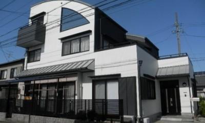 愛知県愛西市 K様邸 外壁塗装工事 (外壁塗装工事 玄関壁)