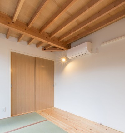 寝室の天井見上げ (3-BOX 1800万円の家)