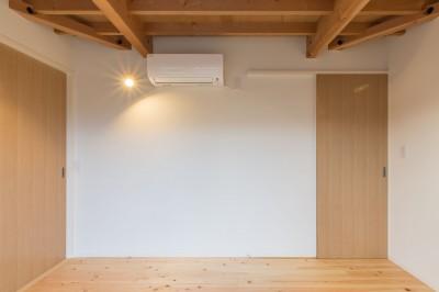 寝室の出入り口を見る (3-BOX 1800万円の家)