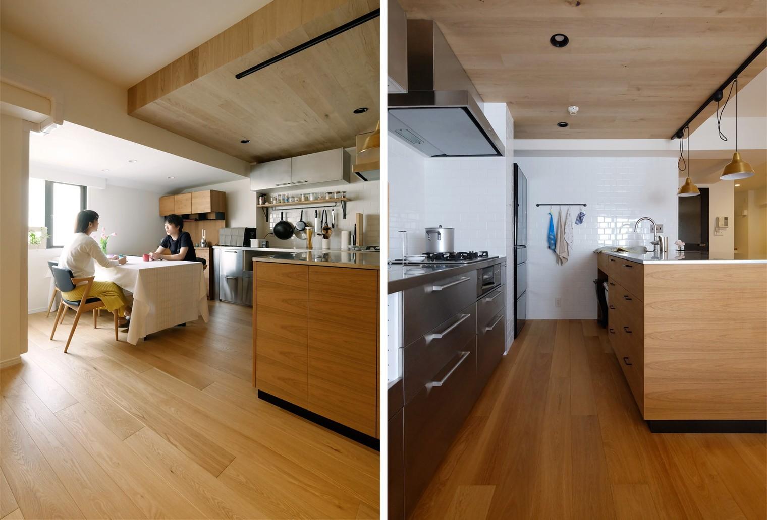 キッチン事例:キッチン(『Blanc』 ― 端正であること)