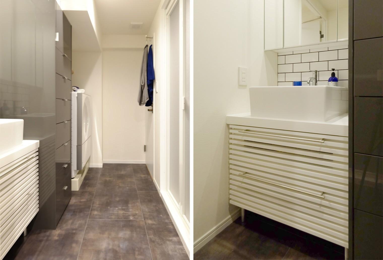 バス/トイレ事例:洗面室(『Blanc』 ― 端正であること)