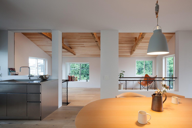 キッチン事例:2階ダイニング・キッチン(代沢戸建てリノベーションPJ)
