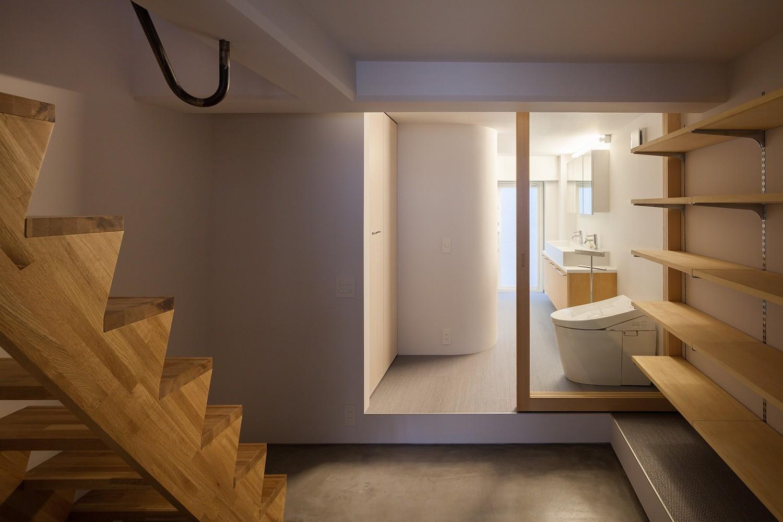 バス/トイレ事例:地下水回り(代沢戸建てリノベーションPJ)