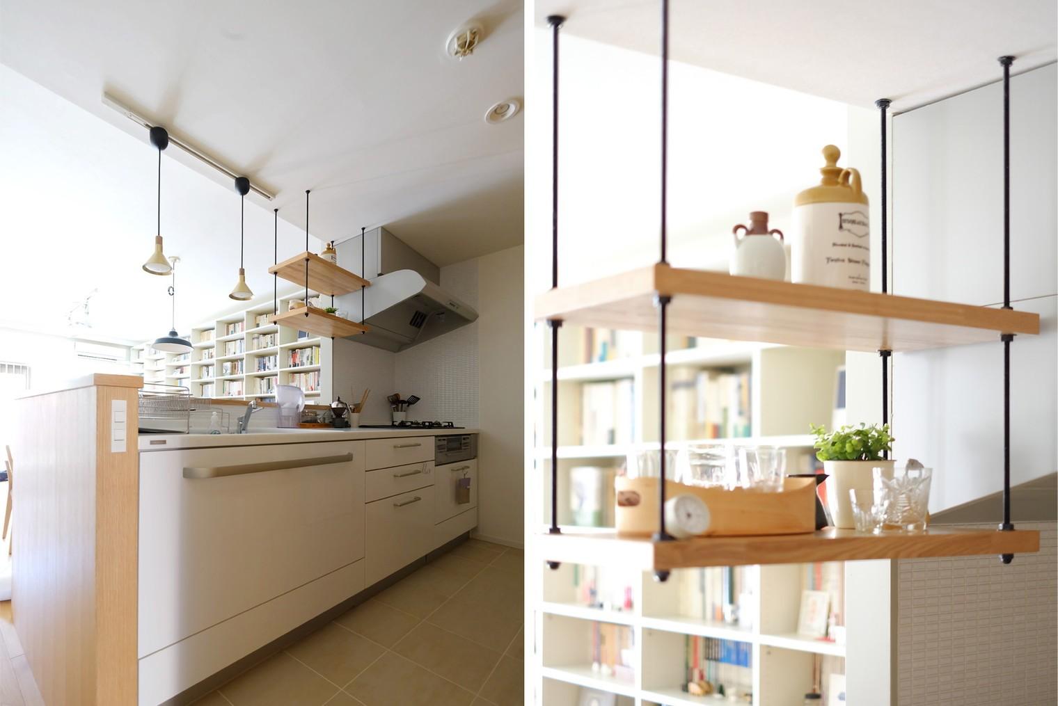 キッチン事例:キッチン(『pale books』 ― 淡さを加える)