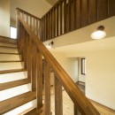 カンツリー倶楽部  「調整区域に建てた家」の写真 格子の造作階段