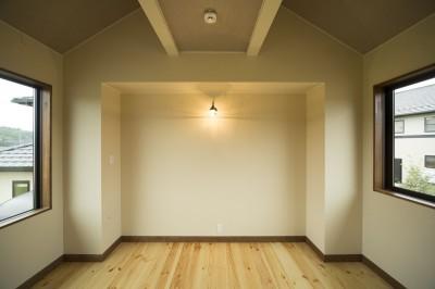 2階寝室 (カンツリー倶楽部  「調整区域に建てた家」)