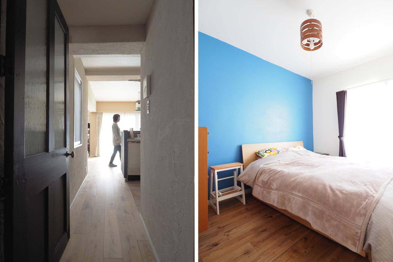 ベッドルーム事例:寝室(『gron kaffe』 ― カフェのようなLDK)