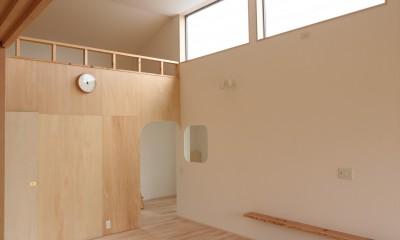 休耕地の家|ロフトタイプの広間1|休耕地の家~農地転用後の平屋の住まい~