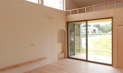 休耕地の家|ロフトタイプの広間2|休耕地の家~農地転用後の平屋の住まい~