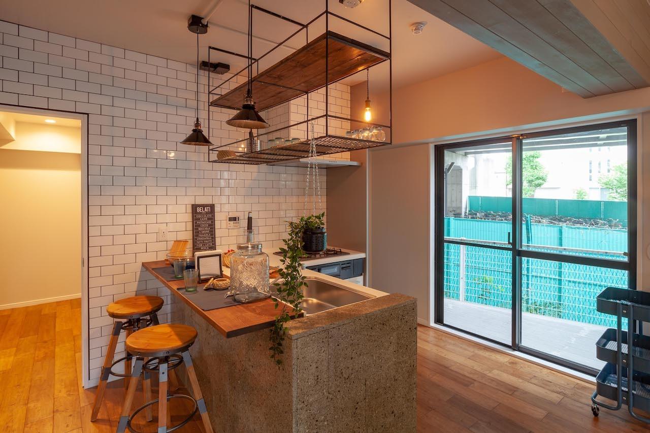 キッチン事例:Cafe style kitchen(Industrieal style)