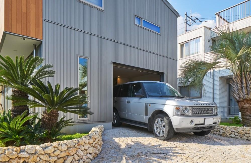 大きなビルトインガレージのある家 埼玉県所沢市・S邸 (外観)
