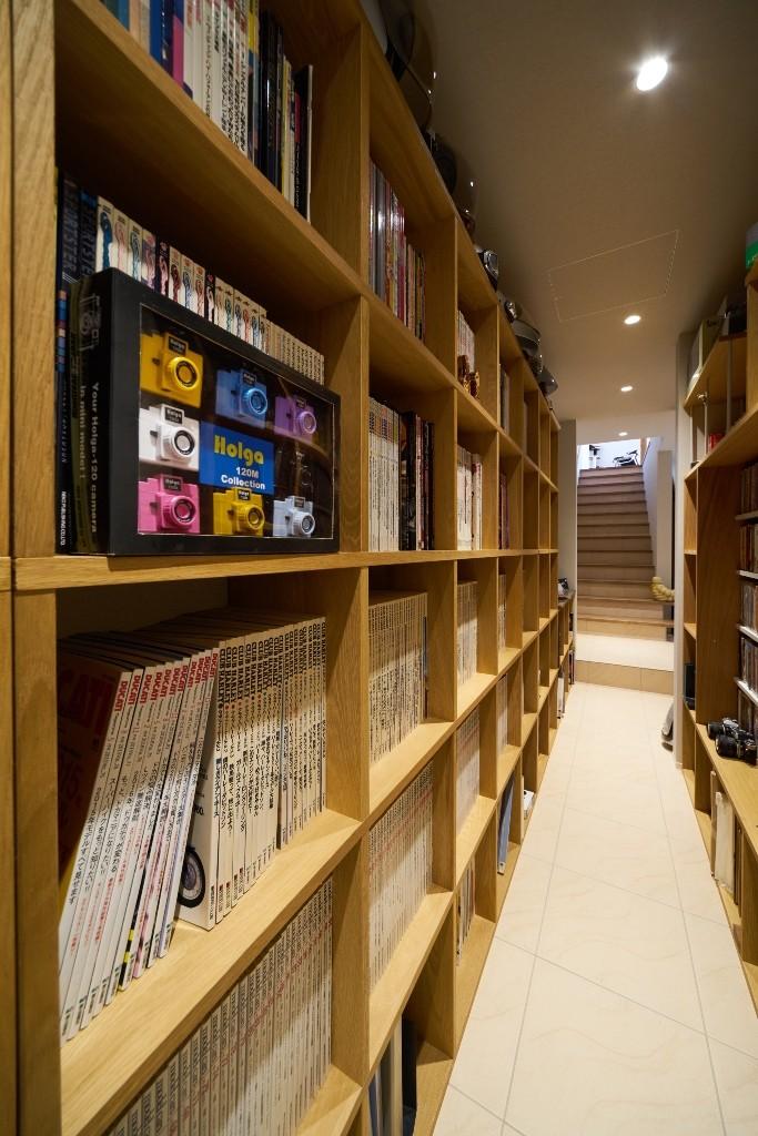 収納事例:ホビールーム(大きなビルトインガレージのある家 埼玉県所沢市・S邸)