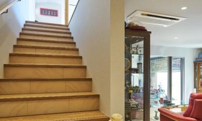 大きなビルトインガレージのある家 埼玉県所沢市・S邸 (階段)