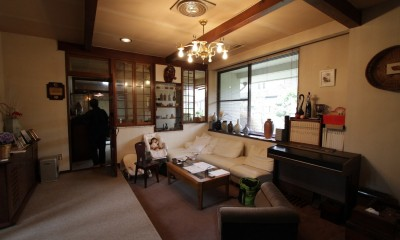 木造築30年「フルリノベーション+増築」で二世帯住宅に改築 OUCHI-23 (室内ビフォア)